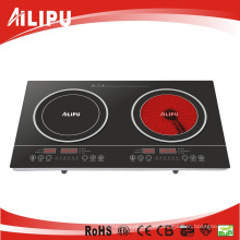 Doble quemador de utensilios de cocina de infrarrojos