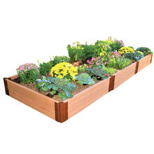 WPC Flower Box Customized Anti-Rot UV Stable Flower Bed DIY Landscape Engineering Flower Pots