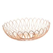 Most Popular Kitchen Modern Silver Metal Wire Mesh Storage Vegetable Basket Fruit Bowl Basket