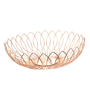 Most Popular Kitchen Modern Silver Metal Wire Mesh Storage Vegetable Basket Fruit Bowl Basket
