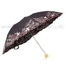 Зонтик женский складной вышитый для амазонки