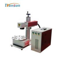 Мини-волоконный лазерный маркер с поворотным рабочим столом 20 Вт