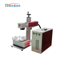 Mini Faser Lasermarker mit rotierendem Arbeitstisch 20W