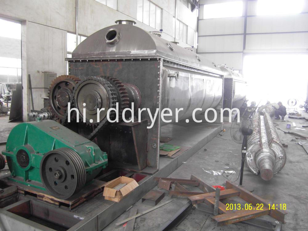 industrial sludge paddle dryer