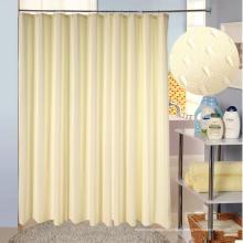 Nova moda impermeável 100% poliéster tecido chuveiro cortina (wsc-2016001)