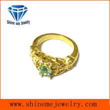 Modeschmuck Gold vergoldet mit Stein Casting Ring