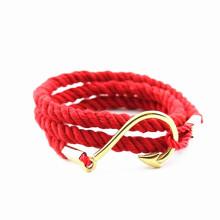 New York IP ouro peixe gancho mais vermelho nylon direto grosso traje china jóias