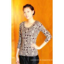 Damen Cashmere Rundhalsausschnitt Pullover mit Schuhen Druck (CPRP1103L)