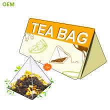 Heißer Verkauf biologisch abbaubare Nylon Pyramide Teebeutel