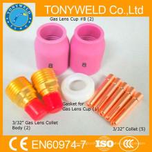 Soldagem de tiges 10PK kits de peças de peças de tocha wp9 tig