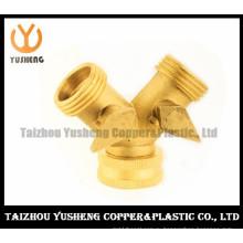 Trifurcate латунный шариковый клапан с латунной ручкой (YS1028)