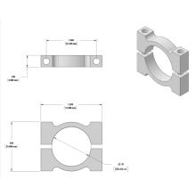 L'usinage CNC 20mm en aluminium noir serre les clips de tuyau