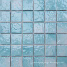 300X300 Elegant Ice Crack Sky Blue Mosaic Tiles Bathroom