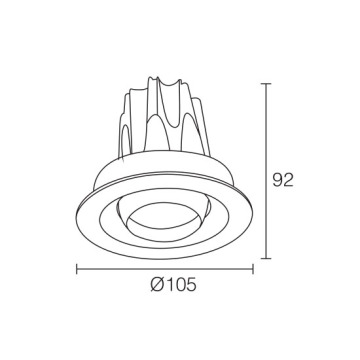 COB Design Technology 12W LED Downlight