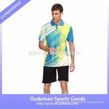 Diseño de jersey de alta calidad para badminton, jersey de badminton unisex, maillot de badminton joven