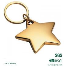 Porte-clés étoile en alliage avec logo personnalisé / porte-clés étoile en métal / porte-clés en or
