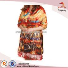 Costume Pendent Elegante lenço de seda 2013 Sentir lenço Lady Pashmina, lenço de seda personalizado, cachecol de seda crua