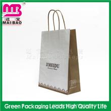 Магазины упаковка использовать Гуанчжоу Maibao пакет изготовленный на заказ Логос напечатал мешок Kraft бумажный