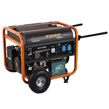 7.5kva gasoline generator with tires,home use gasoline generator with wheels and handles,6kw gasoline generator WH7500K