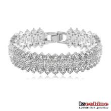 Bracelets en fil blanc nacre plaqué or 18 carats (CBR0015-B)