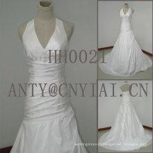 HH0021 real sample mermaid halter neck wedding dress