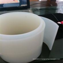 Bande de caoutchouc de silicone blanc transparent