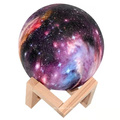 Creative Reading Moon Lamp Bedside Table Lamp 3D Print Moon LED Night Light Touch for Household Children Room Decorations