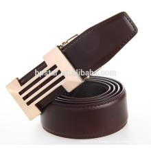 Fashion Coffee Color Fine Buckle Ceinture Fomal Ceinture en cuir véritable pour homme d'affaires / cintos de couro en cuir de cuir pour homme