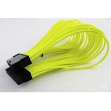 Câble d'extension de puissance pour carte mère M / F simple tresse 24 broches