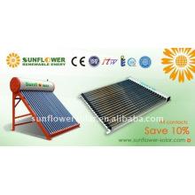 Systeme de chauffage à eau solaire à eau évacuée non pressurisé intégré avec norme SABS