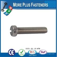 Fabriqué en Taiwan Machine Screw ISO 1207 à tête fendue en acier inoxydable