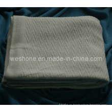 100% algodón suave manta tejida