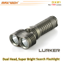 Maxtoch DX21 1100 Lumen 1 * 26650 Li-Ion Akku Long Distance 2 * XML2 U2 CREE LED Bright Light Taschenlampe