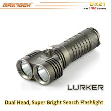 Maxtoch DX21 cabeça dupla visão ampla XML2 U2 LED lanterna LED bateria 26650