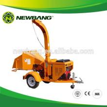 Triturador de madera montado en remolque