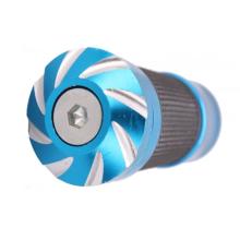 Guiador de giro anodizado azul da bicicleta do CNC