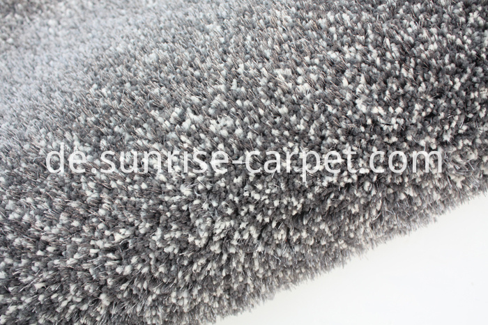 Microfiber and 150D Shagy Home Rug Carpet grey color
