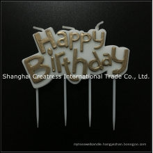 Fixed Low Price Excellent Printing Smokeless Golden Birthday Candle on Picks