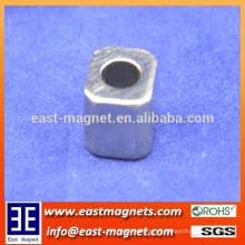 8x8x10mm with D5mm hole neodymiun magnet for sale/cavhollow shape ndfeb magnet for sale