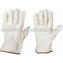 Real Leather Abrasion Resistant Cowgrain Gloves