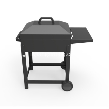 Carrello barbecue a carbonella con ripiano laterale