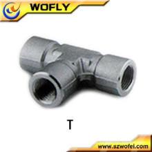 China Acessórios de tubos de aço inoxidável para fêmea T Intercambiáveis com acessórios de tubos Swagelok