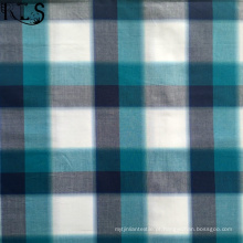 Poplin de algodão tecida de fios tingidos tecidos Rls70-1po