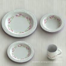 Decalque impresso porcelana prato de jantar / pratos de cerâmica