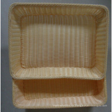 Hecho a mano Fake ratán de mimbre cesta de pan de plástico; Cesta de almacenamiento