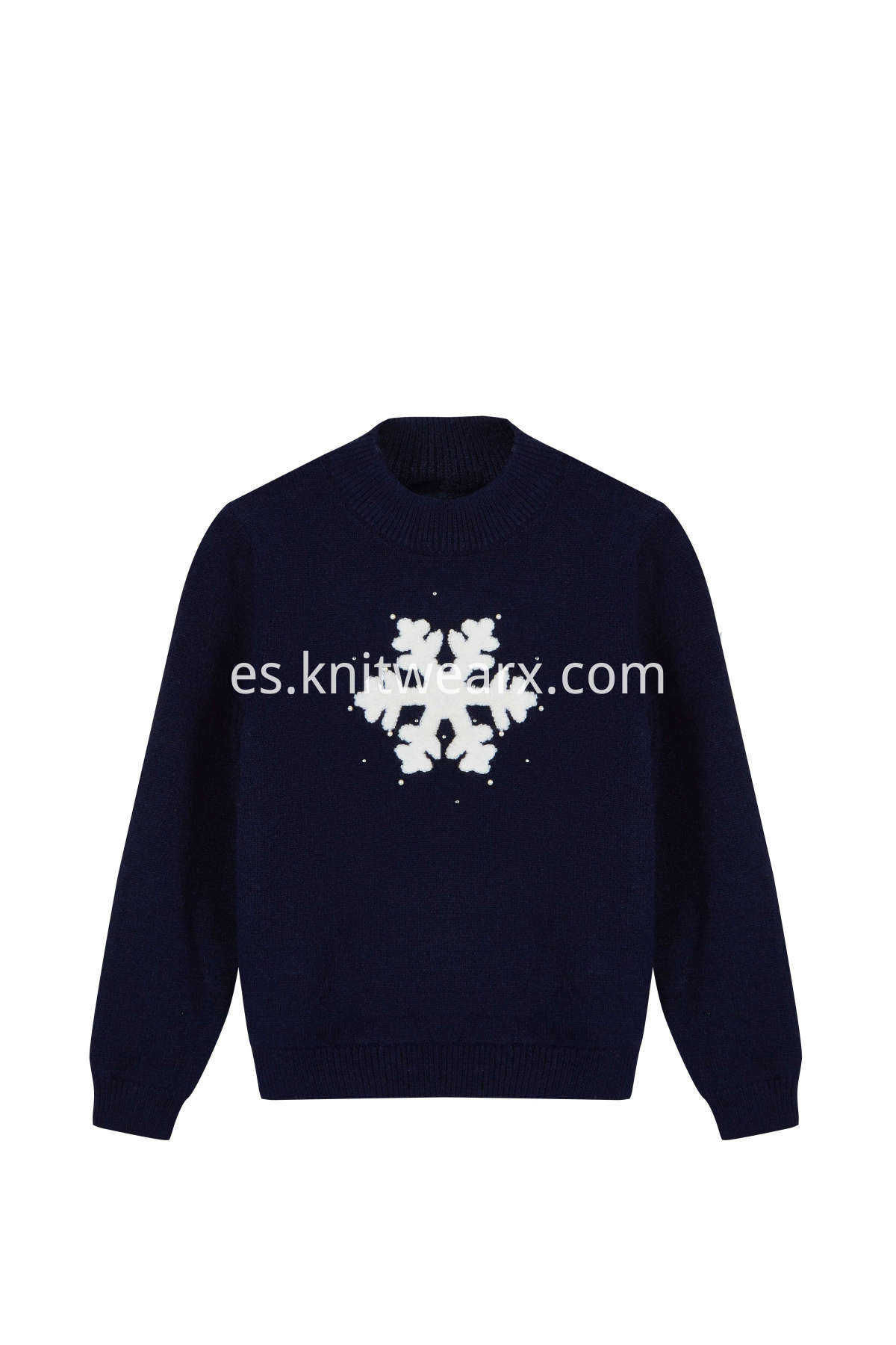 Girl's Nice Snowflake Sweater Long Sleeve Pullover Top