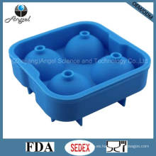 Molde popular del fabricante de la bola del hielo del whisky con el material Si17 del silicón de la cubierta