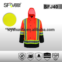 CSA Z96-09 Safety Jacket high visibility clothing for man protective gear with many pockets