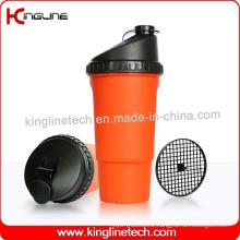 600ml Plastic Protein Shaker Bottle with Filter (KL-7016)