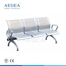 AG-TWC004 froid laminage plaque d'acier hôpital salle d'attente utilisé trois places chaise en métal